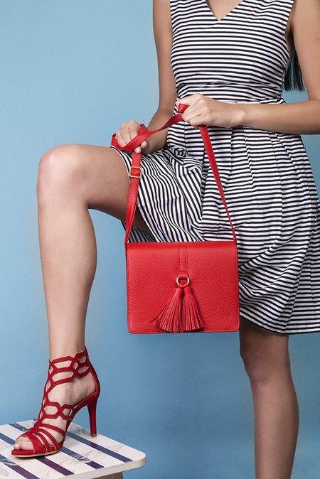 bolso bandolera color rojo