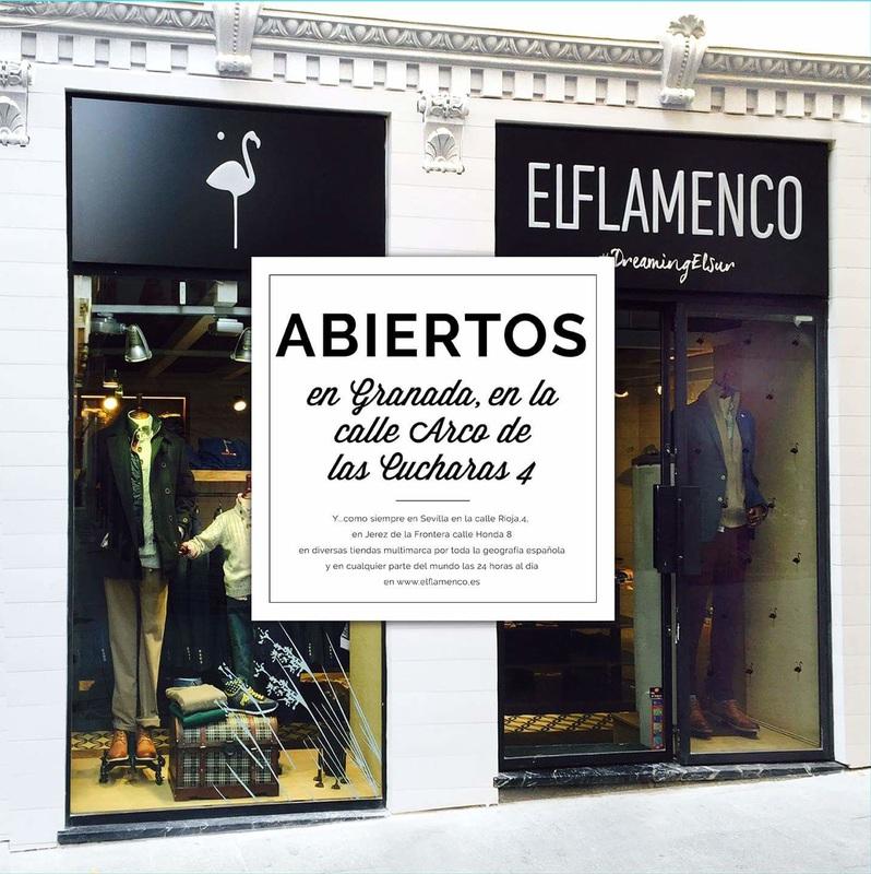 """NUEVA APERTURA EN GRANADA de la boutique para hombre """"EL FLAMENCO"""""""