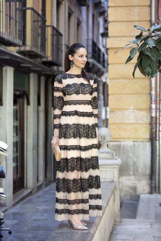 LUCES DE BOHEMIA, el vestido largo de gasa triunfa
