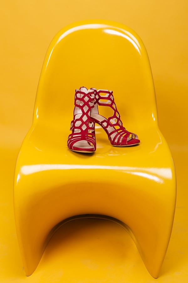 sandalias de verano rojas