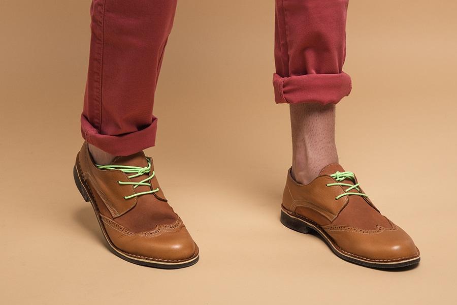 zapatos artesanos tipo oxford
